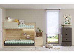 Dvoupatrová postel Lagrama