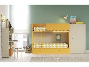 patrová postel;lagrama;knihovna