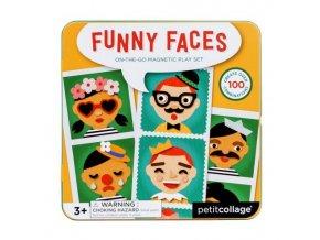 magnetická hra Funny faces