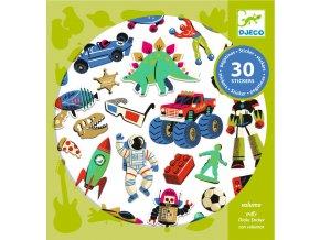dj09263 samolepky retro hračky1