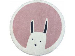 koberec králík ruzovy