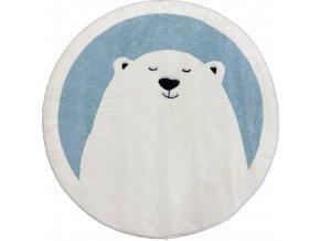 koberec medvěd modrý