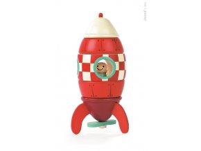 Dřevěná magnetická raketa