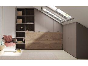 10 Sklopná postel v podkroví