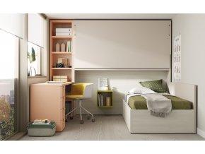 16 Patrová sklopná postel s psacím stolem