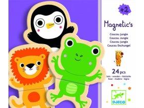 Dřevěné magnetky Jungle