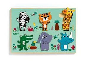 Dřevěné puzzle pro nejmenší Jungle