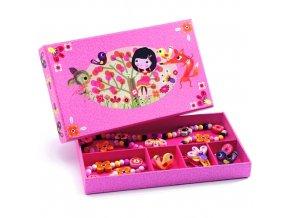 Květinové šperky, dřevěné, pro malé parádnice