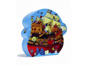 Djeco Puzzle Loď kapitána Barbarossy 54 dílků