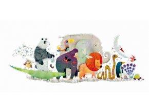 Puzzle Zvířecí přehlídka, 36 dílků