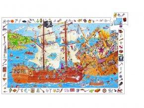 Djeco Puzzle Pirátská bitva 100 dílků