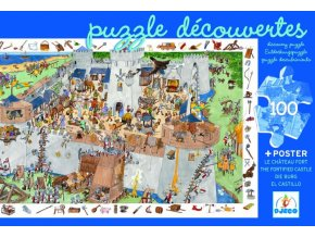 Djeco Puzzle Dobývání hradu 100 dílků