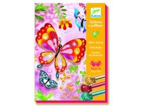 Djeco Malování barevným pískem - Třpytiví motýlci