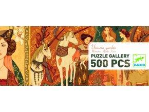 Puzzle Zahrada s jednorožci, 500 dílků