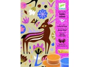 Djeco Malování barevným pískem - Lesní palouk