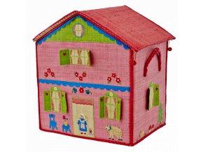 Koš na hračky Horská chata velký