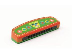Dřevěná foukací harmonika