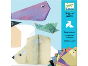 Origami, papírová skládačka Polární zvířátka