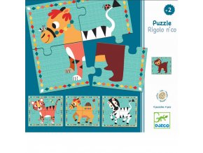 Puzzle pro nejmenší Zvířátka 4 x 4 dílky