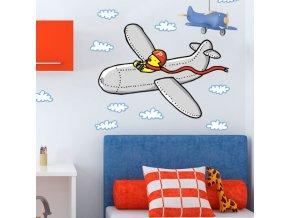 Nálepka na zeď - letec Chick