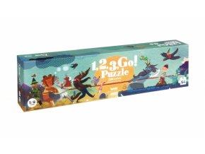 Puzzle - 1,2,3 teď!  54 dílků