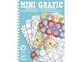 Mini grafic - květinové omalovánky