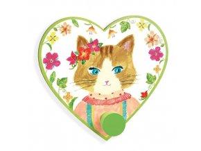 Věšák s háčkem - Kočka