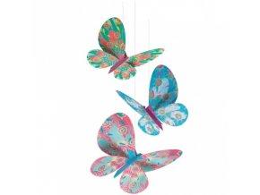 Třpytiví motýlci - závěsná dekorace