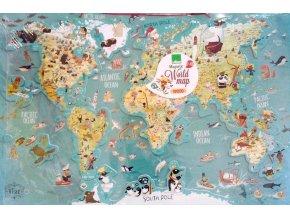 Vilac Závěsná magnetická mapa světa - anglická verze