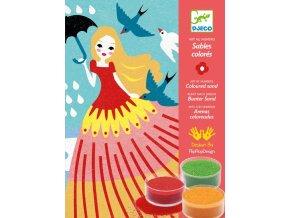 Djeco Malování barevným pískem - Dívčí den