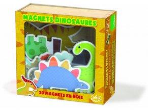 Sada dřevěných magnetek - Dinosauři