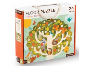Podlahové puzzle V koruně stromu, 24 dílků