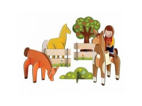 3D skládačka - Koně