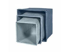 Sebra Set 3 košů - modrý