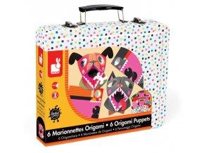 Papírové origami v kufříku - Zvířátka