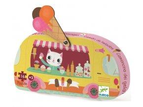 Puzzle Zmrzlinářský vůz, 16 dílků