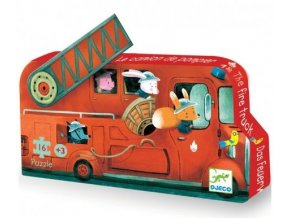 Djeco puzzle Hasičský vůz