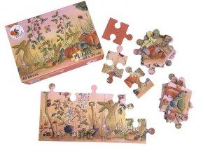 Podlahové puzzle Zahrada, 40 dílků