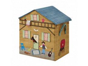 Skládací koš na hračky - ranč