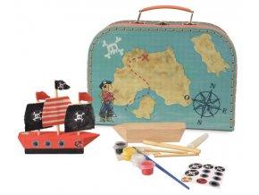 Dřevěná pirátská loď - k dotvoření