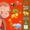Puzzle Opička a přátelé, sada 4-9 dílků
