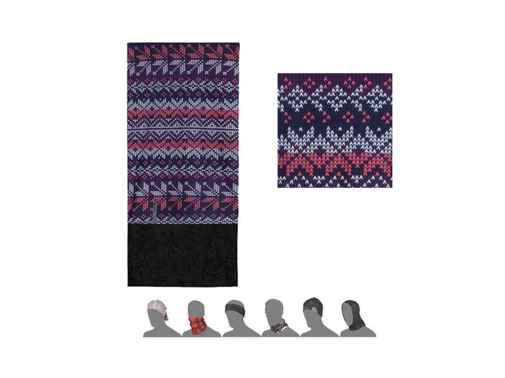 tube fleece vlocky multicolor