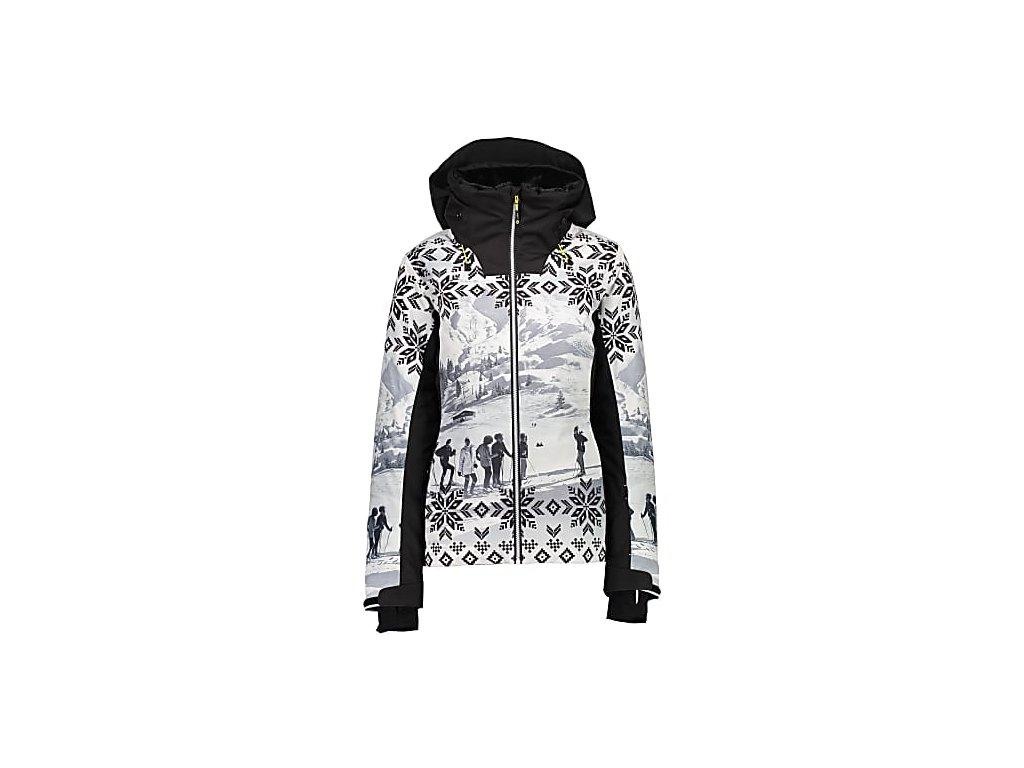 cmp w jacket zip hood printed 19a cmp 39w1646 bianco nero 1