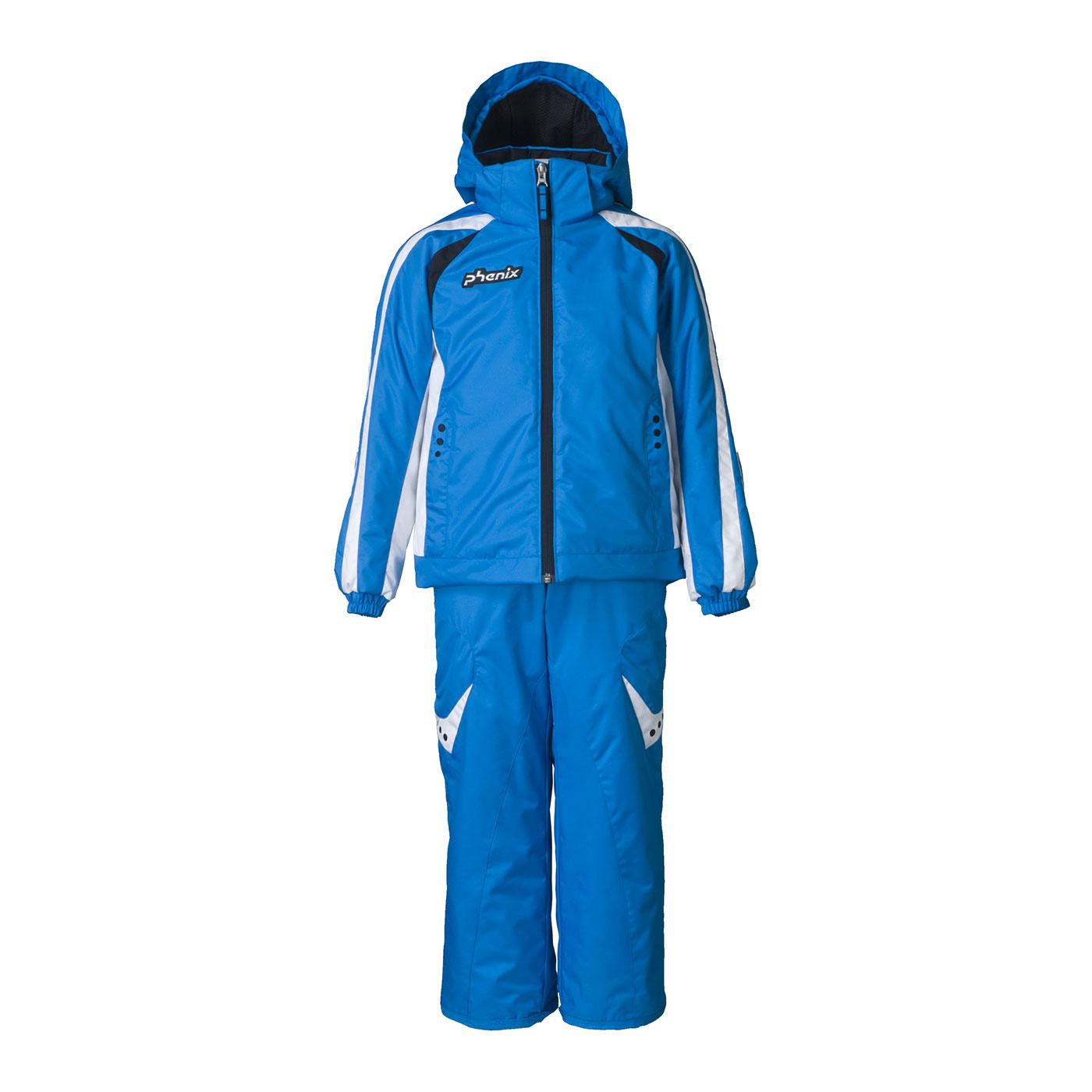 Lyžařský komplet Phenix SukuSuku Thunderbird Barva: modrá bunda/modré kalhoty, Velikost: 2-6