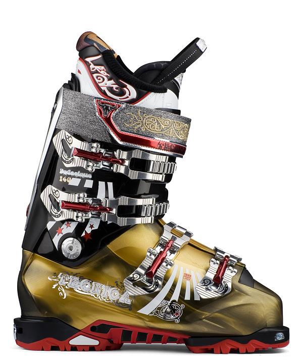 Lyžařské boty Tecnica Bodacious 130 DYN Barva: černá/zlatá, Velikost: 265