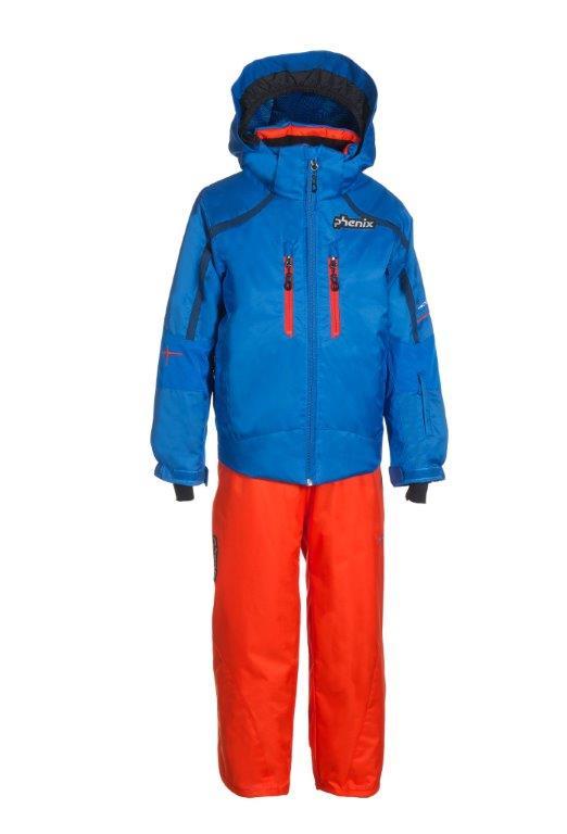Lyžařský komplet Phenix SukuSuku Norway Alpine Team Barva: modrá bunda/oranžové kalhoty, Velikost: 8-12