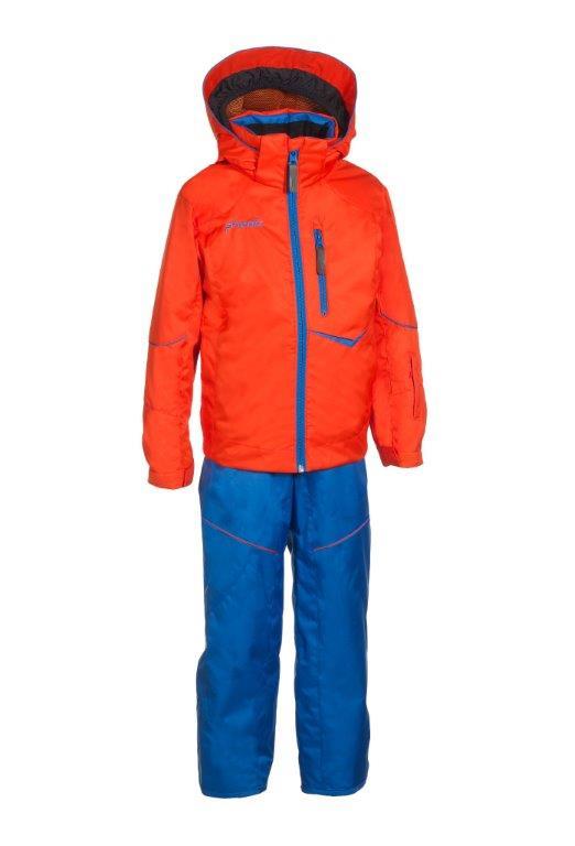 Lyžařský komplet Phenix SukuSuku Hardanger Barva: oranžová bunda/modré kalhoty, Velikost: 4-8