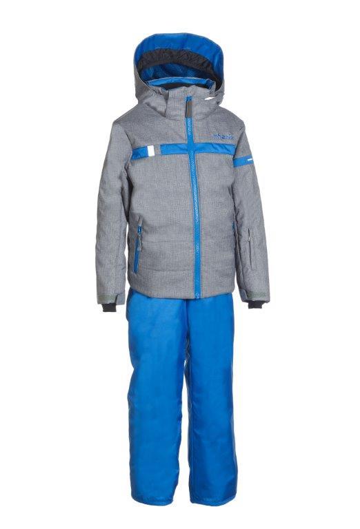 Lyžařský komplet Phenix SukuSuku Lightning Barva: šedá bunda/modré kalhoty, Velikost: 6-10