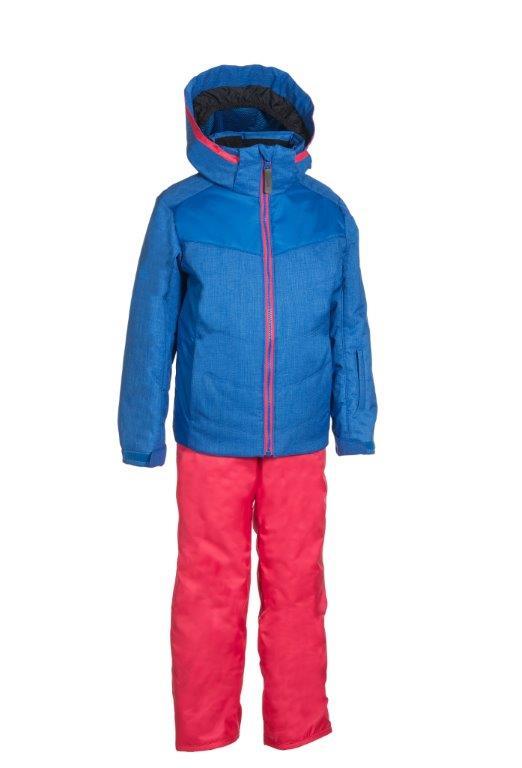 Lyžařský komplet Phenix SukuSuku Bergan Barva: červená bunda/tyrkysové kalhoty, Velikost: 6-10