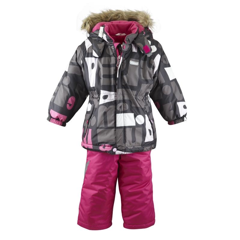 Dětský zimní komplet bunda+kalhoty Reima Loihe Barva: růžová, Velikost: 92